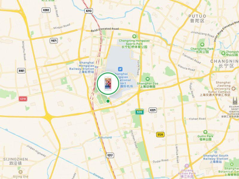iPhoneの場所